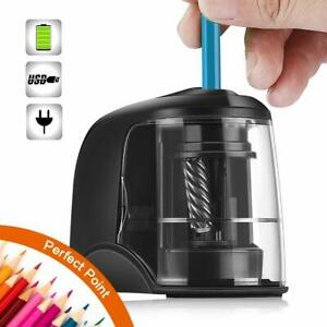 Electric Pencil Sharpener Automatic For Colored Pencils Heavy Duty School Supply