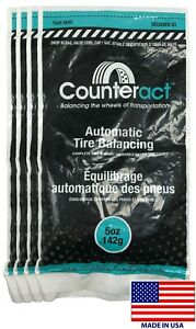4 Bags 5 Ounce Counteract Tire Balancing Beads 5 Oz With Valve Core