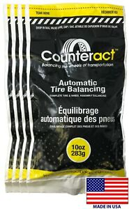 4 Bags 10 Ounce Counteract Tire Balancing Beads 10 Oz With Valve Core Cap