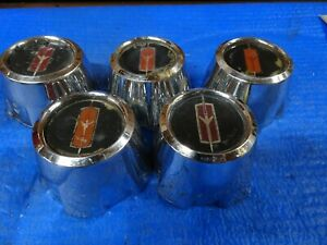 416393 Gm Oe Chrome Wheel Center Caps Fits Oldsmobile Cutlass 1978 1987 Set Of 5