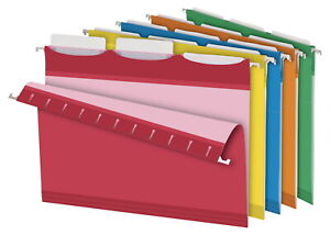 Pendaflex Ready tab Reinforced Hanging File Folders 3 Tab Letter Assorted