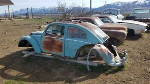 1961 Vw Beetle Sunroof Ragtop Clip Complete With Sliding Mechanism