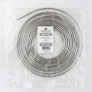1 4 Inch X 25 Foot Stainless Steel Line Brake Fuel Transmission Tubing Coil