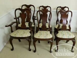Set Of Six Henkel Harris Chairs Mahogany 103