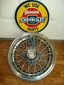 1 Oem 1986 96 Chevy Caprice Classic 15 Wire Spoke Hubcap Wheel Cover