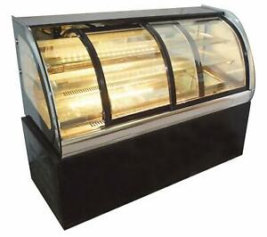 Intbuying 220v Glass Refrigerated Cake Pie Showcase Bakery Display Case Cabnient