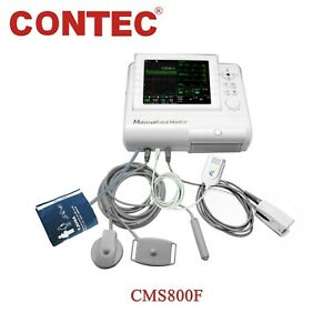 Contec Cms800f Maternal Patient Monitor Ecg Nibp Fetal Monitor Baby Heart Toco