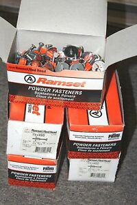 Ramset 1510sd Low Velocity Powder Fasteners 500 Count 1 1 4 Washered Pins