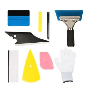 9pcs Car Window Tint Tools Kit Vinyl Film Tinting Squeegee Scraper Applicator