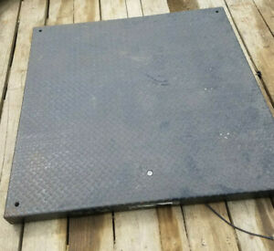 Mettler Toledo Floor Scale Freight Pallet Platform 2500lb W ramp Hawk Interface