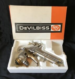 Devilbiss Model Jgv 572 Fw Suction Feed Spray Paint Gun Stainles No Air Cap Ring