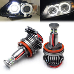 20w 6000k White Bmw H8 Led Angel Eyes Ring Marker Light Bulbs For 1 3 5 X Series