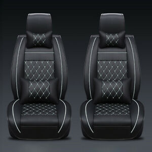 Blue 5 seats Car Seat Cover Protector cushions Front Rear Full Set headest