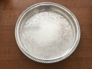 International Silver Co Round Pierced 12 Serving Tray Dish