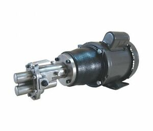 3 Hp Rotary Gear Pump 230vac 1 Phase 125 Psi 316 Stainless Steel