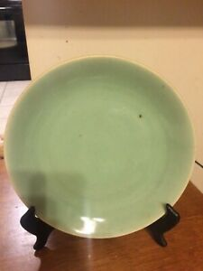 Antique 19 Century Chinese Celadon Green Export Plate 9