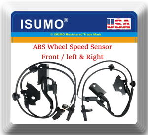 2x Abs Wheel Speed Sensor Front Left Right Fits Lexus Scion Toyota