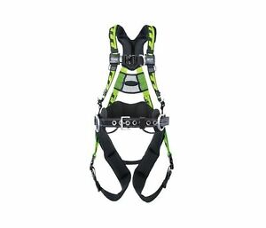 Miller Aat qcsmg Tower Climbing Full Body Harness Front Side D rings