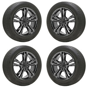 19 Dodge Charger Challenger Awd Black Chrome Wheels Tires Factory Oem 2410