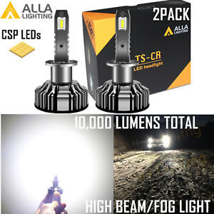 Alla Lighting Super Bright H1 Fog Light Bulb Beam Cast On Road W Cut Off Line