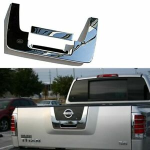 For 04 12 Nissan Titan Chrome Tailgate Rear Panel Door Handle Lower Cover