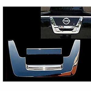 For 2005 2012 Nissan Frontier Triple Chrome Tailgate Handle Cover Overlay Trim