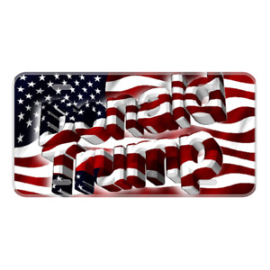 Custom Personalized License Plate Car Tag With Donald Trump Usa Colors