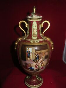 Antique Royal Vienna Urn Austria Vase Marked And Signed Rosley