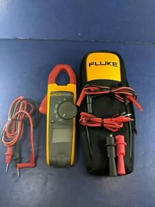 Fluke 373 Trms Clamp Meter Soft Case Accessories Excellent Screen Protector