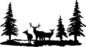 Die Cut Vinyl Decal Deer Buck Wildlife Scene Diy Craft 20 Colors Car Truck 282