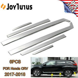 For Honda Crv 2017 19 Chrome Stainless Steel Door Side Body Mouldings Cover Trim