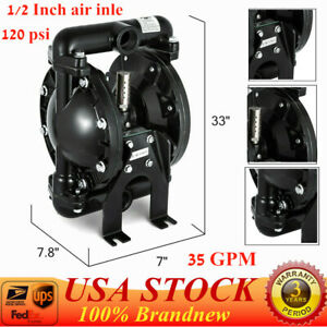 35gpm Air operated Double Diaphragm Pump 1 Outlet Petroleum Fluids 1 Inlet Hot
