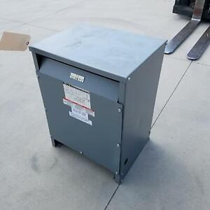 Square D 30t3h Sorgel Three Phase Insulated Transformer 30 Kva H v 480 Used