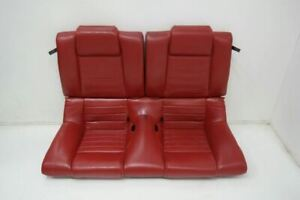 Oem Ford Mustang Coupe Leather Rear Seat Red 2005 2006 2007 2008 2009 2010