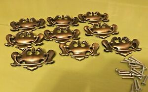 Lot Of 9 Vintage Chippendale Brass Drawer Cabinet Pulls Bail Bat Wings 4