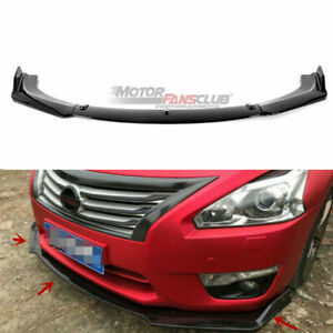 For Nissan Altima 4 Door Sedan 2013 2015 Glossy Black Front Lip Bumper Splitter