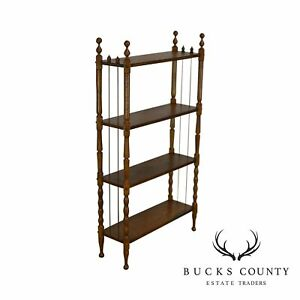 Antique Victorian Oak 4 Tier Open Bookcase Book Shelf