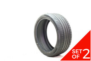 Set Of 2 Used 255 35zr19 Continental Contisportcontact 5p 92y 5 6 5 32