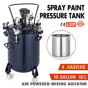 Spray Paint Pressure Pot Agitator Wide Base 3 8 Fluid Outlet Pressure Tank