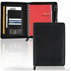 Synthetic Leather System Diary Zipper Handmade Organizer Planner With Daily