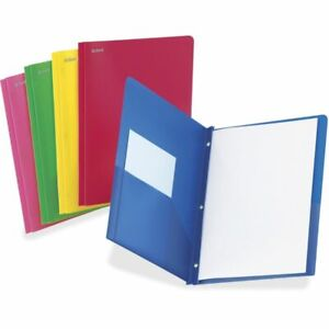 Tops Oxford Translucent Poly Twin pocket Folders Letter Size Assorted Colors