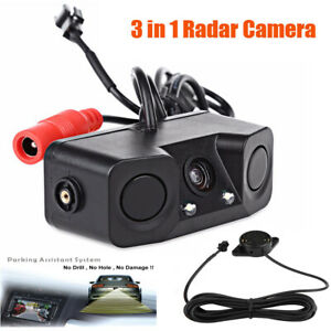 Car Backup Parking Radar Rear View Camera With Parking Sensor 3 In 1 Us