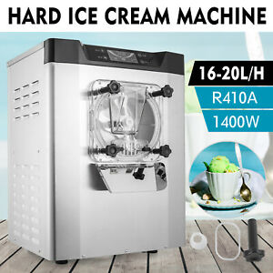 20l h Commercial Hard Ice Cream Maker Machine 304 S steel Eco friendly Cafes