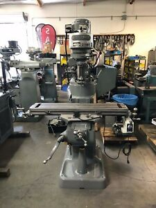 Bridgeport Step Pulley Milling Machine With Power Feed 9 X 42
