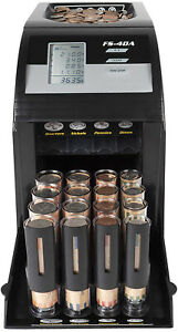 4 Row Electric Coin Counter Anti jam Technology Digital Coin Counting Display