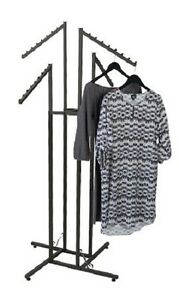Clothes Rack Four Way 4 Slant Arms Clothing Garment Retail Display 72