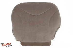 2001 2002 Gmc Sierra 1500 Sle Z71 Hd Driver Side Bottom Cloth Seat Cover Tan