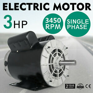 New 3 Hp 3450 Rpm Air Compressor 60 Hz Electric Motor 208 230 Volts Cm03256