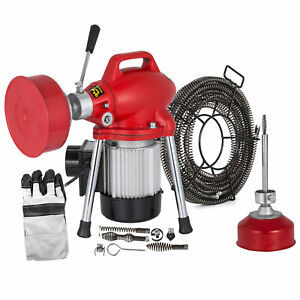 Sectional Drain Cleaner 250w Auger Pipe Cleaning Machine 12 5m X 16mm Cable