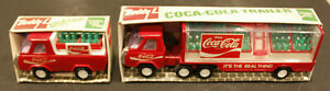 2X BUDDY L COCA COLA TRUCK & TRAILER & PICK UP TRUCK YEAR 1976
